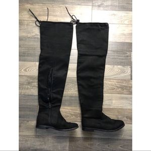Boohoo, size 8 (euro 5), thigh high boots.